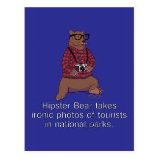 Hipster Bear Postcard