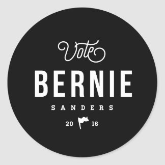 Hipster Bernie Classic Round Sticker