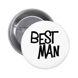 Hipster Best Man Pinback Button