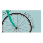 Hipster Bicycle Wheel with Custom Name Double-Sided Standard Business Cards (Pack Of 100)