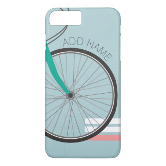 Hipster Bicycle Wheel with Custom Name iPhone 7 Plus Case