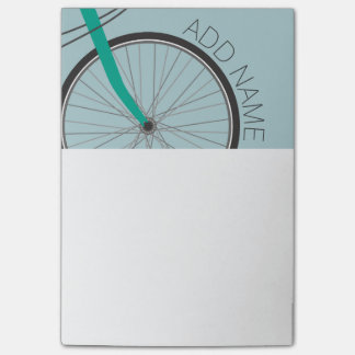 Hipster Bicycle Wheel with Custom Name Post-it Notes