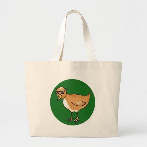 Hipster Bird Canvas Bags