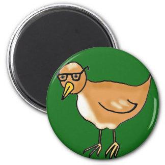 Hipster Bird 2 Inch Round Magnet