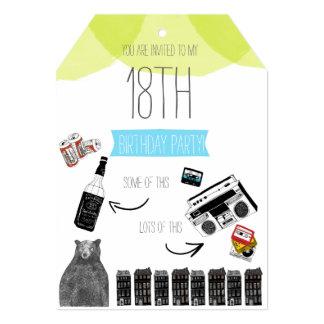 Hipster Birthday Invite