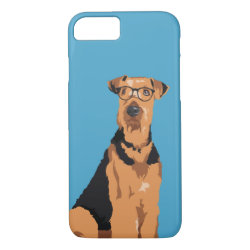 Hipster Black and Brown Airedale Terrier Dog iPhone 8/7 Case
