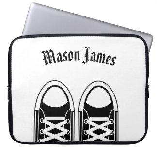 Hipster Black Sneakers Laptop Sleeve