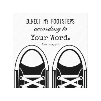 Hipster Black Sneakers with Scripture Canvas Print