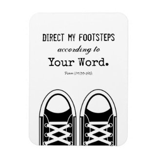 Hipster Black Sneakers with Scripture Magnet