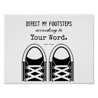 Hipster Black Sneakers with Scripture Poster