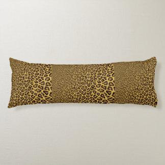 Hipster Black Yellow Animal Print Pattern Body Pillow