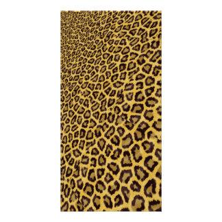 Hipster Black Yellow Animal Print Pattern Card