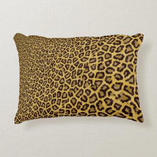 Hipster Black Yellow Animal Print Pattern Decorative Pillow
