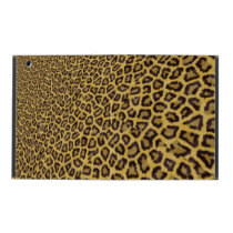 Hipster Black Yellow Animal Print Pattern iPad Case