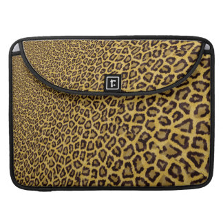 Hipster Black Yellow Animal Print Pattern MacBook Pro Sleeve