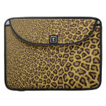 Hipster Black Yellow Animal Print Pattern Sleeve For MacBook Pro