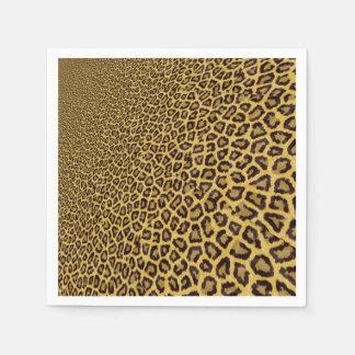Hipster Black Yellow Animal Print Pattern Paper Napkin