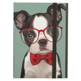 Hipster Boston Terrier Cover For iPad Air