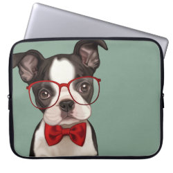 Neoprene Laptop Sleeve 15' with Boston Terrier Phone Cases design