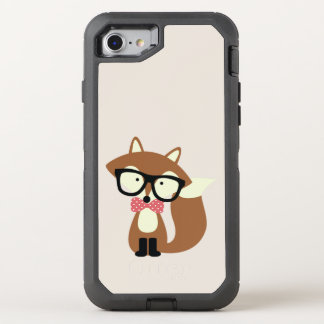 Hipster Bow Tie Brown Fox OtterBox Defender iPhone 8/7 Case