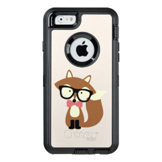 Hipster Bow Tie Brown Fox OtterBox Defender iPhone Case