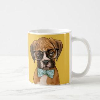 Hipster boxer Puppy Coffee Mug