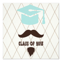 Hipster Boy 2015 Graduation Invitation