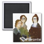 Hipster Bronte Sisters 2 Inch Square Magnet