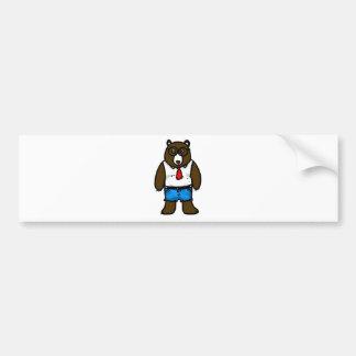 Hipster brown wild daddy bear bumper sticker