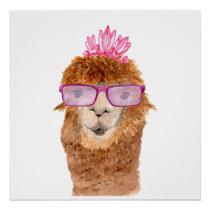 Hipster Camel T-Shirt Poster