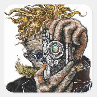 Hipster Camera Square Sticker