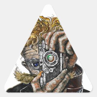 Hipster Camera Triangle Sticker