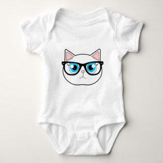 Hipster Cat Baby Bodysuit