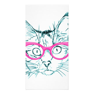 Hipster Cat Card