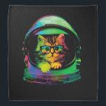 "Hipster cat - Cat astronaut - space cat Bandana<br><div class=""desc"">astronaut,  cat space,  cats in space,   kitty,  pussycat,  pet,  kittens,  cute cats, funny cats, rainbow cat</div>"