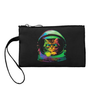 Hipster cat - Cat astronaut - space cat Coin Purse