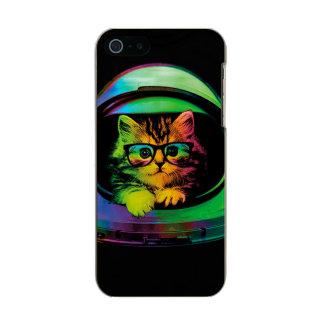 Hipster cat - Cat astronaut - space cat Metallic iPhone SE/5/5s Case