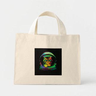 Hipster cat - Cat astronaut - space cat Mini Tote Bag