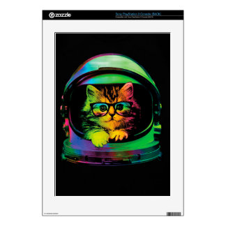 Hipster cat - Cat astronaut - space cat PS3 Decals