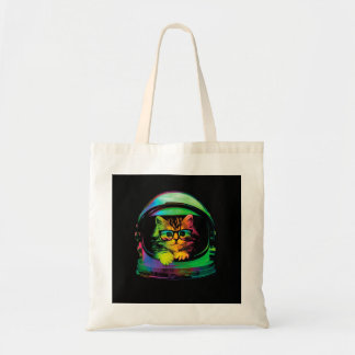 Hipster cat - Cat astronaut - space cat Tote Bag