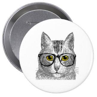 Hipster Cat - Cat Humor Pins