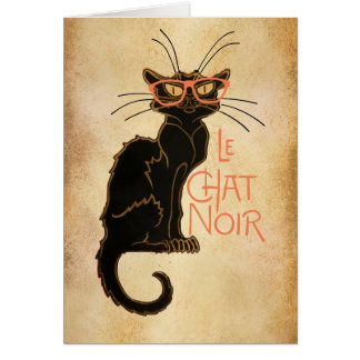 Hipster Cat, Classic Greeting Card