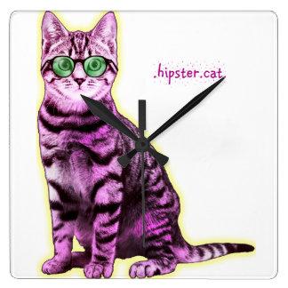Hipster Cat Clock