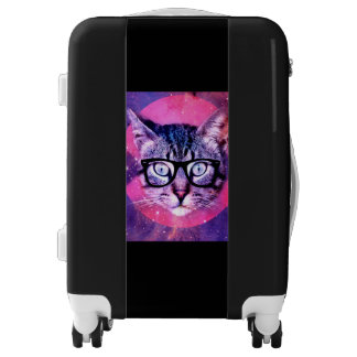 Hipster Cat Luggage