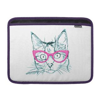 Hipster Cat MacBook Sleeve