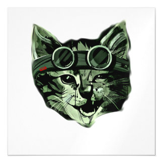 Hipster Cat Magnetic Card