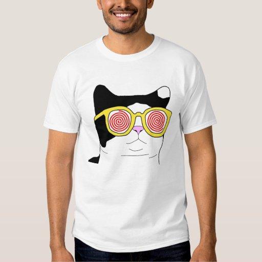 hipster cat t shirt zazzle. Black Bedroom Furniture Sets. Home Design Ideas