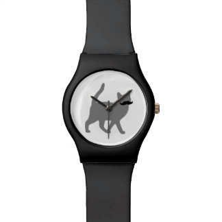 Hipster Cat with Moustache Wristwatch