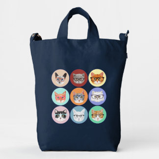 Hipster Cats Duck Bag