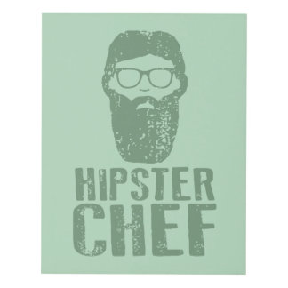 Hipster Chef Panel Wall Art